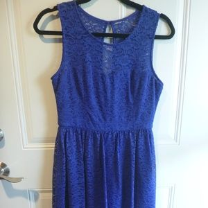 Jessica Simpson Blue Lace Dress 4